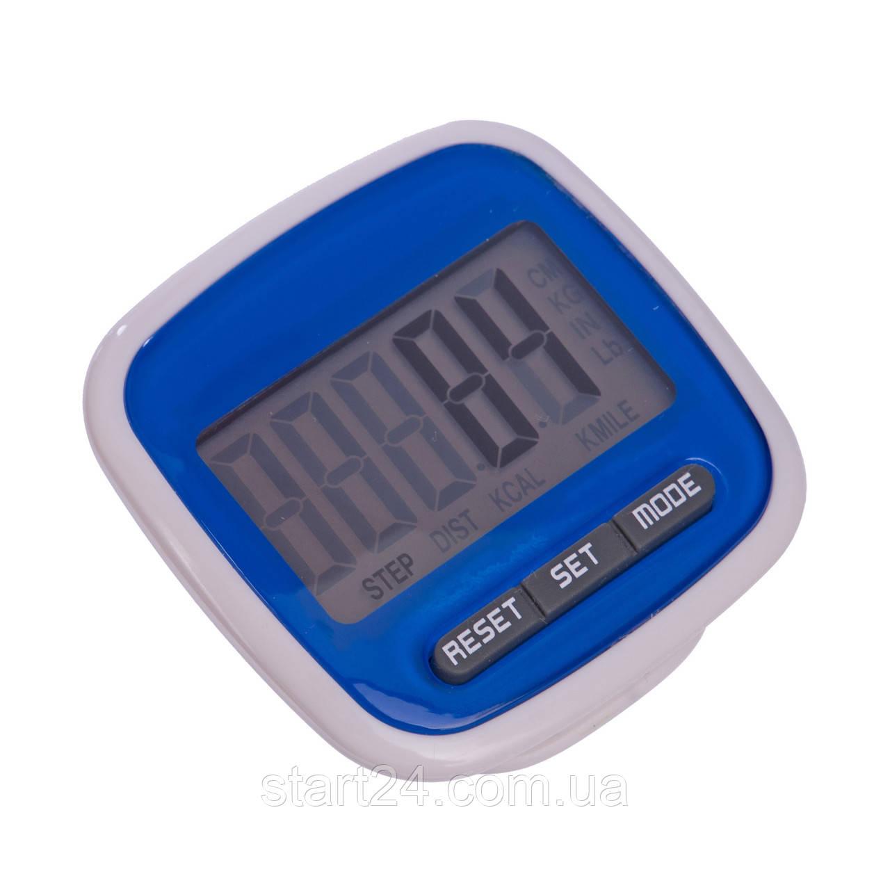 Шагомер электронный с клипсой C-2979 (667) (пластик, 3 в 1 калории, кол-во шагов, расстояние)