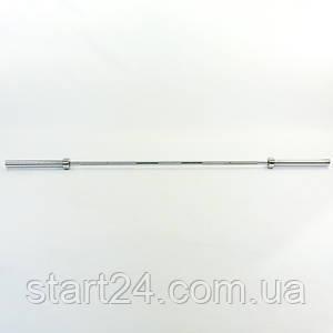 Гриф для штанги Олимпийский профессиональный прямой TA-5127 (l-2,18м, рук.d-50мм, гр.d-28мм,вес18кг)