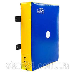Макивара настенная (1шт) Тент LEV UR LV-4285 (р-р 40x50x10см,синяя, красная)
