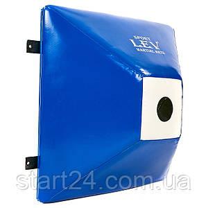 Макивара настенная ромбовидная (1шт) Тент LEV UR LV-4287 (р-р 60x60x33см, синий-белый)