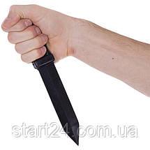 Нож тренировочный SP-Planeta UR C-3549 (резина, черный), фото 2