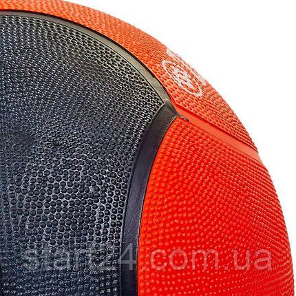 Мяч медицинский медбол Zelart Medicine Ball FI-5121-8 8кг (резина, d-28,5см, красный-черный), фото 2