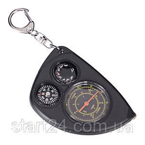 Курвиметр с компасом и термометром LX-2 (металл, пластик, d комп.-15мм, d масш.-30мм,d терм.-15мм)