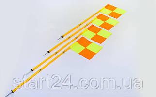 Флаги угловые складные С-4585 (металл, пластик, l-1,63м, в комплекте 4шт)