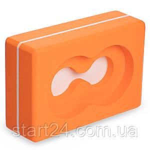 Блок для йоги (кирпич для йоги) с отверстием Record FI-5163 (EVA, р-р 23х15х7,5см, цвета в ассортименте)