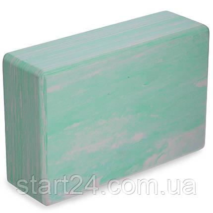 Блок для йоги мультиколор Record FI-5164 (EVA, р-р 23х15х7,5см, кольори в асортименті), фото 2