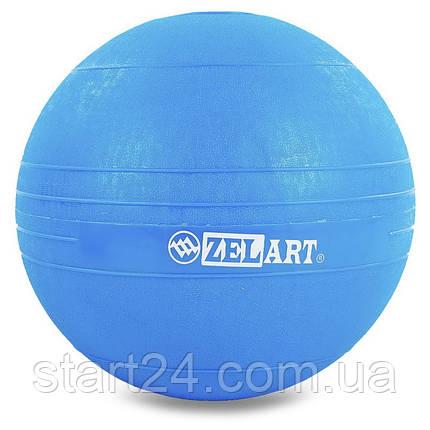 Мяч набивной слэмбол для кроссфита Record SLAM BALL FI-5165-2 2кг (резина, минеральный наполнитель, d-23см,, фото 2