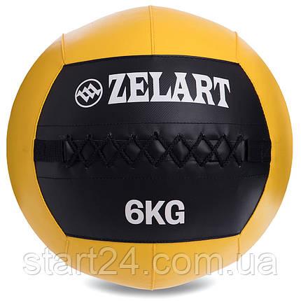 Мяч волбол для кроссфита и фитнеса 6кг Zelart WALL BALL FI-5168-6 (PU, наполнитель-метал. гранулы, d-33см,, фото 2