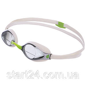 Очки для плавания стартовые MadWave RECORD BREAKER M045401 (поликарбонат, силикон, цвета в ассортименте)