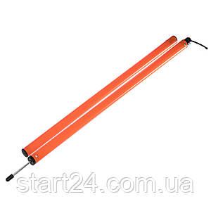 Шест для слалома тренировочный C-4600 (пластик, метал. штык для крепления в грунт, l-1,6м)