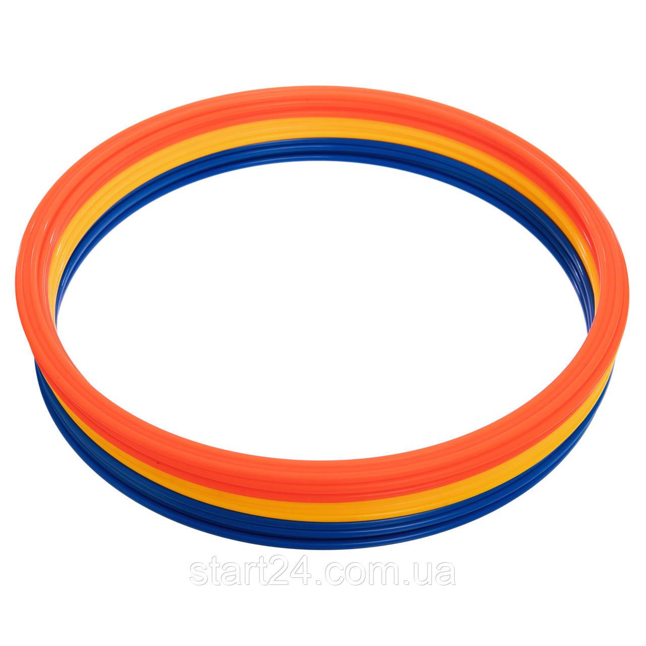 Кільця тренувальні C-4602-40 (пластик, d-40см, в комплекті 12шт., кольори в асортименті)