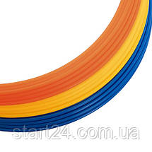 Кільця тренувальні C-4602-40 (пластик, d-40см, в комплекті 12шт., кольори в асортименті), фото 3