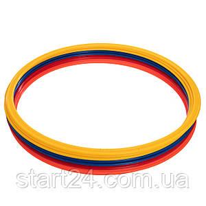 Кільця тренувальні C-4602-50 (пластик, d-50см, в комплекті 12шт.,кольори в асортименті)