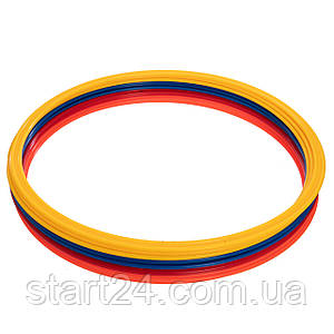 Кольца тренировочные C-4602-50 (пластик, d-50см, в комплекте 12шт.,цвета в ассортименте)