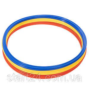 Кольца тренировочные C-4602-60 (пластик, d-60см, в комплекте 12шт.красный, желтый, синий, оранжевый)
