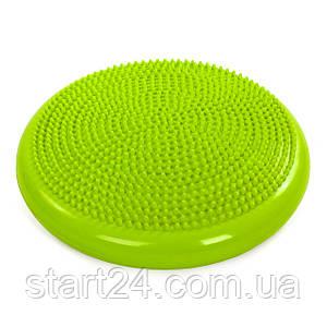 Подушка балансувальна масажна FI-5326 BALANCE CUSHION (PVC, d-34см, 1000гр, кольори в асортименті)