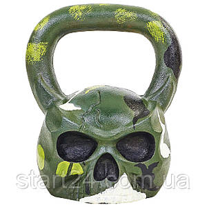 Гиря чугунная окрашенная черная Skull TA-5707-20 20кг (чугун)
