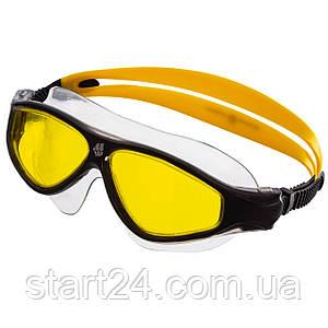 Очки-полумаска для плавания MadWave FLAME M046102 (поликарбонат, термопластичная резина, силикон, цвета в