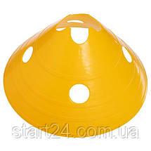 Конус-тарелка плоский,  для травы разметочный с отверстиями 14см C-4605 (пластик, d-30см, MIXцветов), фото 3