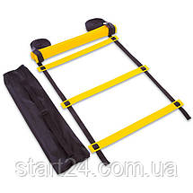 Координационная лестница дорожка для тренировки скорости 10м (20 переклад) C-4607 (10мx0,52мx2мм,цвета в, фото 2
