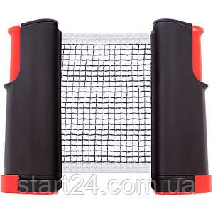Сетка для настольного тенниса с кнопочным креплением RECORD C-4609 (пластик, NY, PVC чехол)