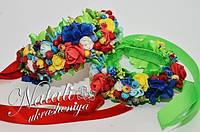 Венок для мамы и дочки в украинском стиле