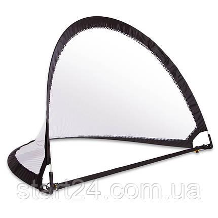 Складні футбольні ворота для тренувань (1шт) C-4898 (пластик, сітка, PVC чохол, р-р 120х81х81см), фото 2