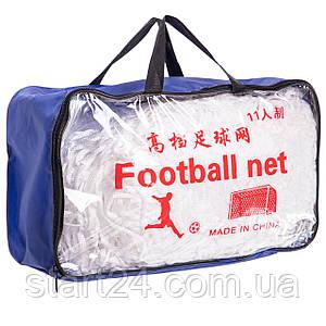 Сетка на ворота футбольные тренировочная узловая (2шт) С-5004 (PP 2,5мм, яч. 12x12см, PVC чехол)
