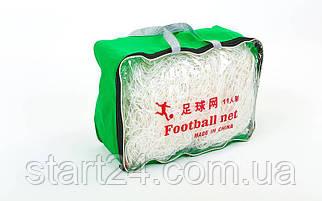 Сетка на ворота футбольные любительская узловая (2шт) C-5370 (PE 2мм, яч. 14x14см, PVC чехол)