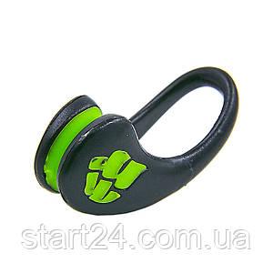Зажим для носа в пластиковом футляре MadWave ERGO M071202 (TPR, нейлон, безразмерный, черный)