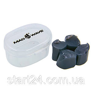 Беруши для плавания в  пластиковом футляре MadWave M071401 (силикон, цвета в ассортименте)