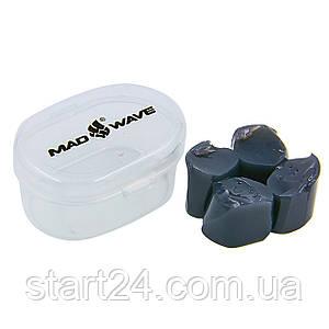 Беруші для плавання в пластиковому футлярі MadWave M071401 (силікон, кольори в асортименті)
