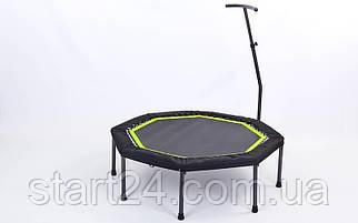 Фитнес-батут с одинарной ручкой восьмиугольный 42in RECORD FI-5650-2 (крепление жгуты с металлическим кольцом,