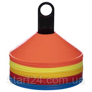 Фишки для разметки поля на пластиковой подставке 50шт С-6418 (d-20см, 50шт, 32гр, уп. PP пакет, разноцветный)