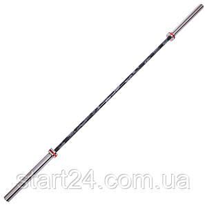 Гриф для штанги Олимпийский профессиональный для Кроссфита TA-7234 (l-2,20м, гр.d-28мм,20кг, нагрузка до