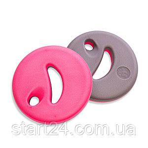 Диски для аквааэробики 2шт MadWave AQUADISK M082901000W (EVA, р-р 24х24х4см, розовый)