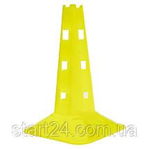 Фішка спортивна з отворами для штанги 32см C-7159 (пластик м'який, h-32см, кольори в асортименті), фото 2