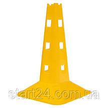 Фішка спортивна з отворами для штанги 32см C-7159 (пластик м'який, h-32см, кольори в асортименті), фото 3