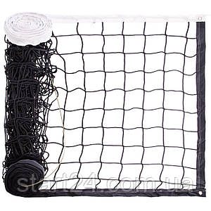 Сетка для волейбола C-8008 (PL 2,5мм, р-р 9,5x1м, ячейка 12x12см, с метал. тросом)