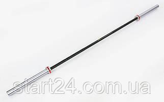 Гриф для штанги Олимпийский профессиональный для Кроссфита TA-7236 (l-2,20м, гр.d-28мм,20кг, нагрузка до