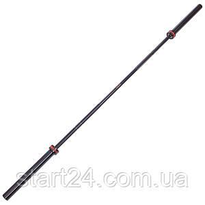 Гриф для штанги Олимпийский профессиональный для Кроссфита TA-7237 (l-2,20м, гр.d-28мм,20кг, нагрузка до