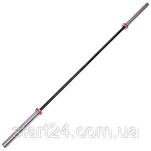Гриф для штанги Олимпийский профессиональный для Кроссфита TA-7242 (l-2,20м, гр.d-28мм,20кг, нагрузка до