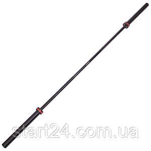 Гриф для штанги Олимпийский профессиональный для Кроссфита TA-7243 (l-2,20м, гр.d-28мм,20кг, нагрузка до