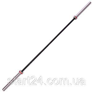 Гриф для штанги Олимпийский профессиональный для Кроссфита TA-7245 (l-2,20м, гр.d-28мм,20кг, нагрузка до