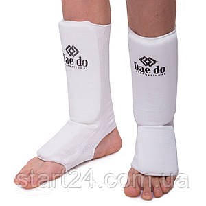 Защита голени и стопы чулочного типа DADO MA-0007D (полиэстер, р-р XXS-XL-4-18лет и старше, белый)