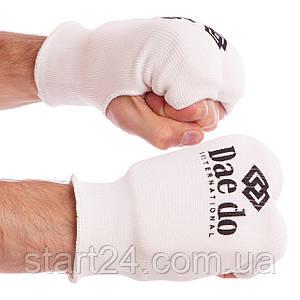 Накладки (рукавички) для карате DADO MA-0009D (PL, бавовна, еластан, р-р XS-L, білий)