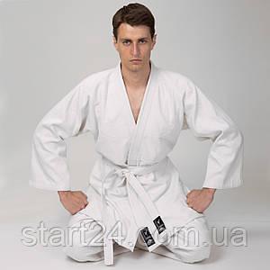 Кімоно для дзюдо MATSA MA-0013 (бавовна щільність 450 г на м2, розмір 000-7, зріст-110-200см, білий)