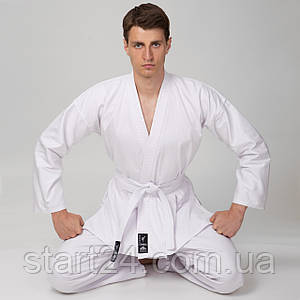 Кімоно для карате MATSA MA-0016 (бавовна щільність 240г на м2, розмір 000-6, зріст-110-190см, білий)