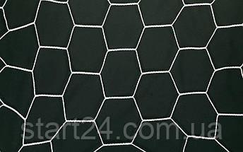 Сетка на ворота футбольные тренировочная безузловая (2шт) С-9017 (PL 2,5мм, PVC чехол), фото 3