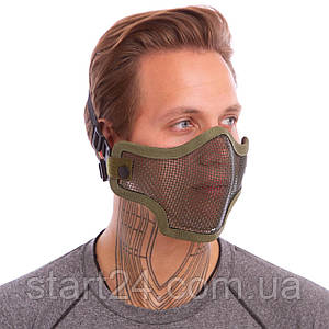 Маска защитная пол-лица из стальной сетки для пейнтбола CM01 цвета в ассортименте